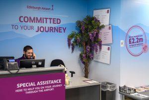Edinburgh Airport special assistance desk