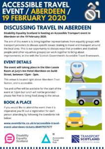Aberdeen Transport Event poster