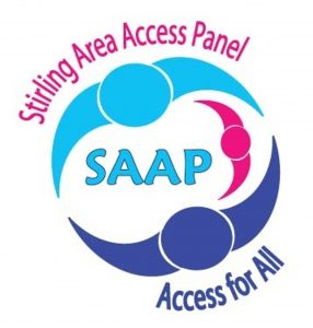 Stirling Area Access Panel logo featuring slogan Access for All