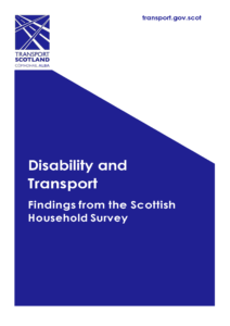 Disability and Transport front cover