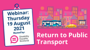Return to Public Transport: Webinar: Thursday 19 August 2021